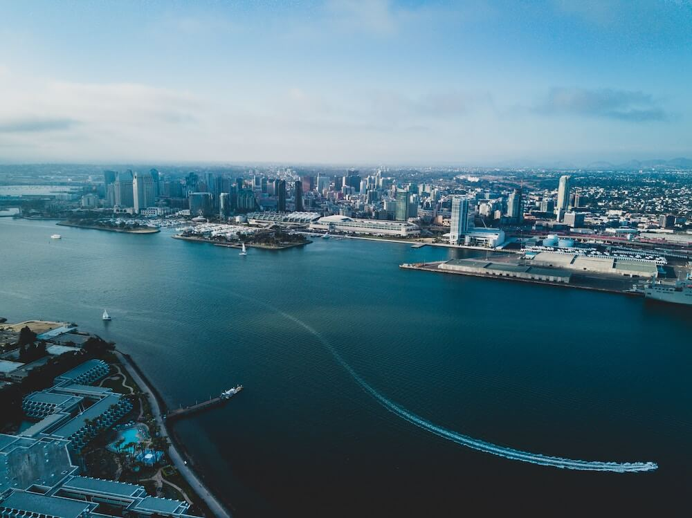 Aerial View of San Diego Bay